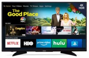 This 43-inch 4K HDR television with Amazon Fire TV built-in is on sale for just $200