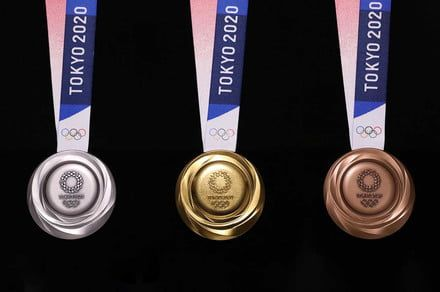 Olympic medals made from recycled electronics finally get a chance to shine