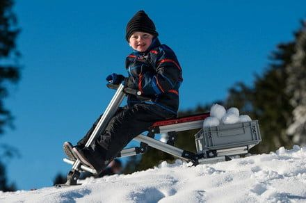 Infento's Big Snow Kit lets parents and kids mix and match their own DIY sleds