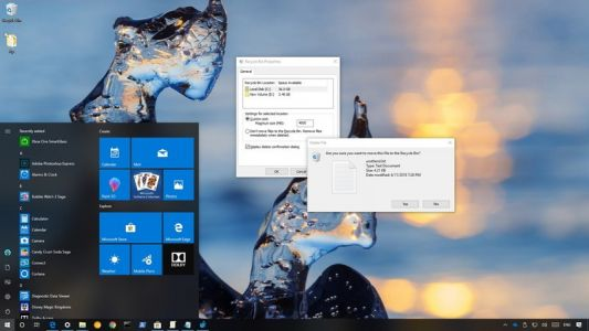 How to change Recycle Bin storage settings on Windows 10
