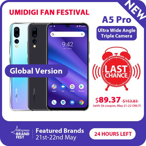 UMIDIGI A5 Pro unboxing video, last chance to get it for $89.37 at UMIDIGI Fan Festival