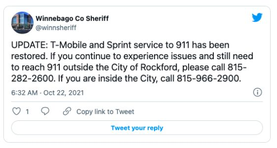 Some T-Mobile & Sprint customers unable to call 911
