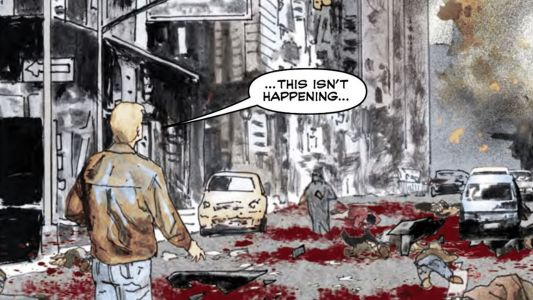 Rage is a road trip while the world goes to hell from Jimmy Palmiotti and Scott Hampton