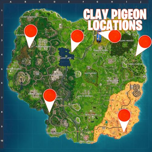 Clay Pigeons Locations - Fortnite Guide For Week 8 Challenges