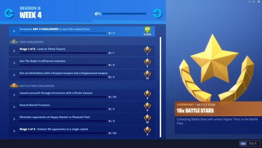 Fortnite Week 4 Challenges List: Use Baller, Search Buried Treasure, And More
