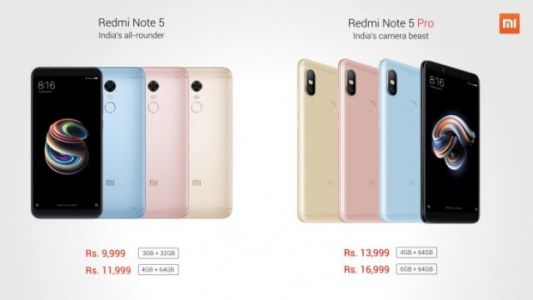 Xiaomi announces the Redmi Note 5 and Redmi Note 5 Pro