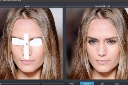 Using this A.I.-based healing brush, repairing an image is no biggie