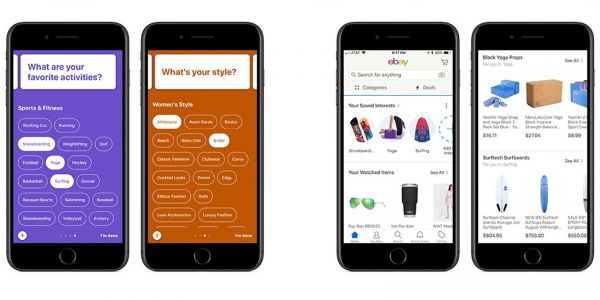 EBay uses your interests to curate a personalized store