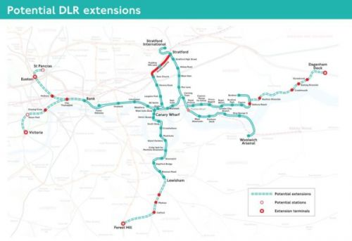 The DLR could be extended from Bank to Euston