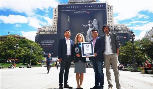 Huawei P20 Pro Advertising Scored Guinness World Record