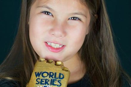 This seven-year-old with a 3D-printed hand is a star at the World Series