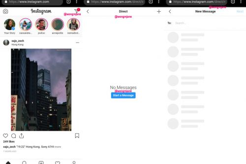 Instagram is testing direct messages for the web
