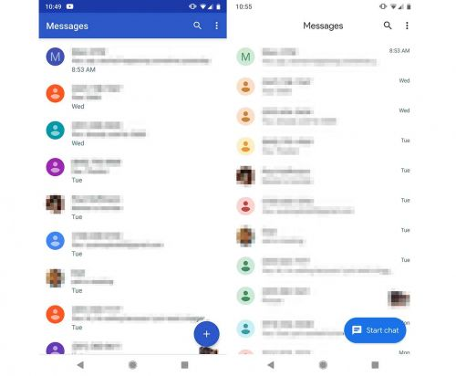 Android Messages 3.5 update brings Material makeover and dark mode