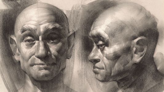 How to build light and shadow in charcoal