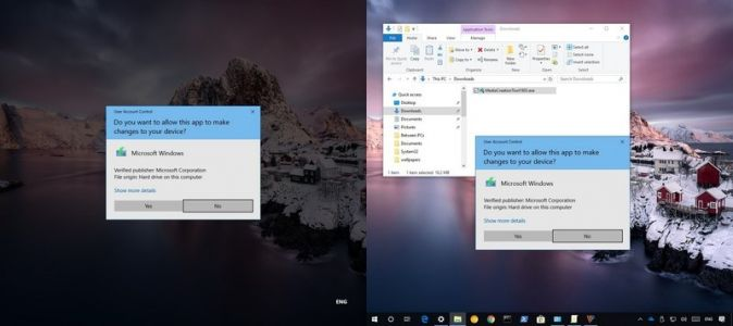 Disabling UAC prompt from dimming desktop on Windows 10