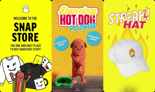 You can now buy Snapchat merchandise in the app, including a Dancing Hot Dog Plushie