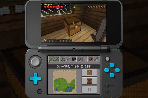 Minecraft for the Nintendo 3DS is available today