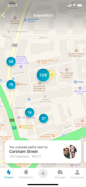 Happn takes on Tinder Places with an interactive map of missed connections