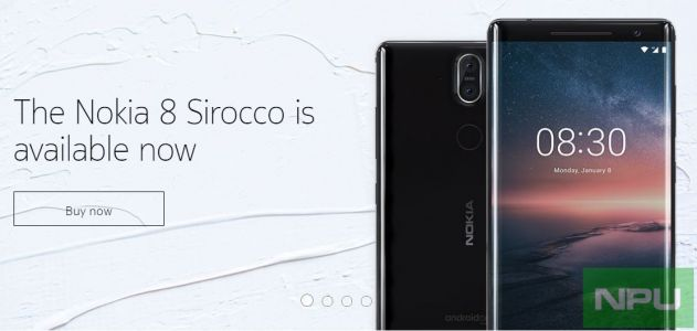 Nokia 6.1, 7 Plus & 8 Sirocco available in Poland, Finland & Germany from Official Nokia shop