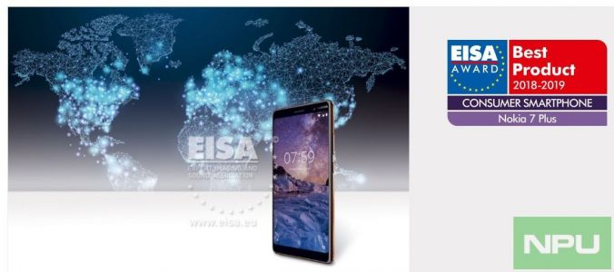 Nokia 7 Plus wins EISA Best consumer smartphone award for 2018-19