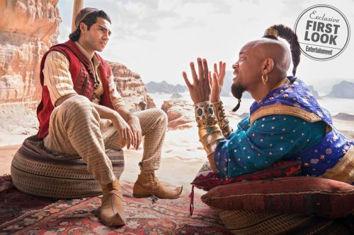 Aladdin Remake First Images Reveal Will Smith's Genie