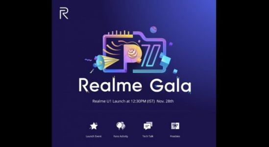 Realme U1 to be Announced at the Realme Gala, Win One for Free