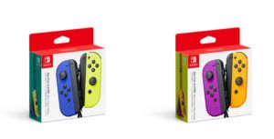 Nintendo launches new Joy-Con colours, blue/neon yellow and purple/ neon orange