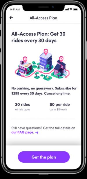 Lyft's $299 subscription plan is launching to the masses