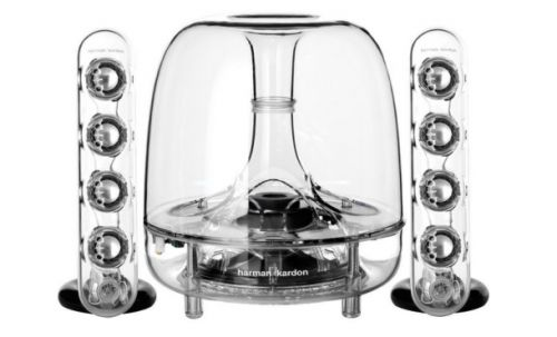 This completely transparent wireless speaker system kind of just blew my mind