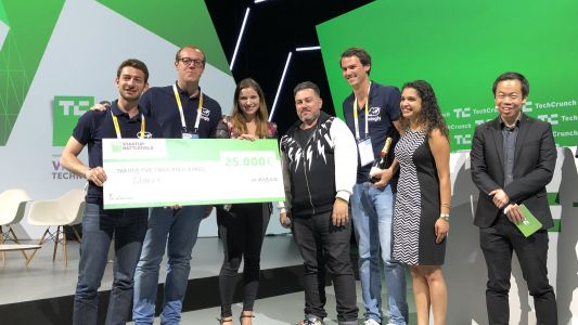 And the winner of Startup Battlefield Europe at VivaTech is. Wingly