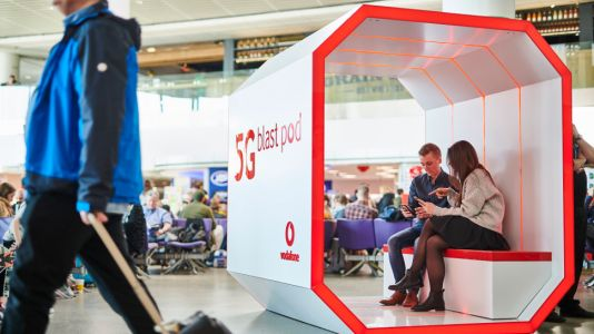 Vodafone UK switches on first 5G airport