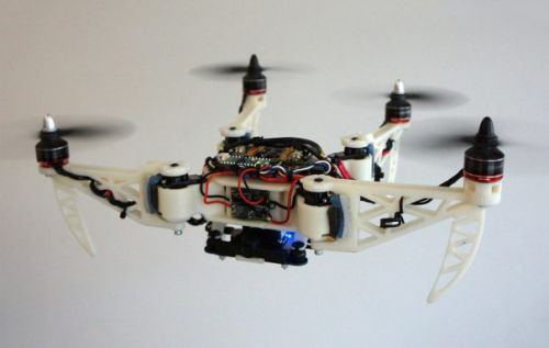 Folding rescue drone can transform its shape while in the air