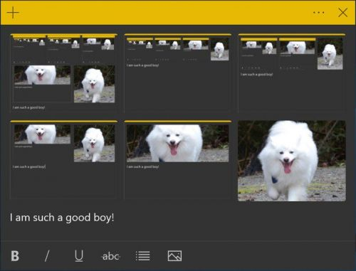 Sticky Notes updates for Skip Ahead Insiders with image attachments, more