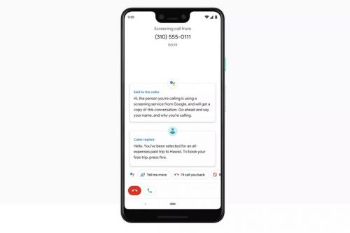 Google Assistant call screening is now rolling out for the Pixel 2 and 2 XL