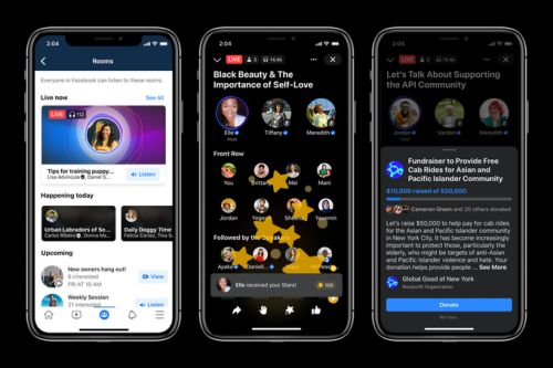 Facebook invests in audio with short-form Soundbites feature, podcast support, and a Clubhouse clone