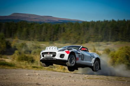 Jaguar's rally-ready F-Type roadster is happiest off the pavement
