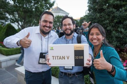 Nvidia hands out $3,000 Titan V graphics cards for free to A.I. researchers