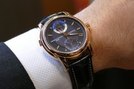New gold finish makes Frederique Constant's hybrid smartwatch flashier than ever