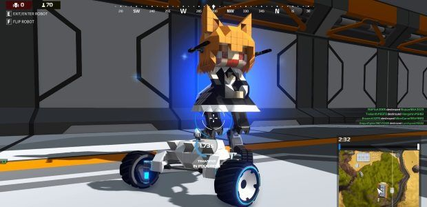 Robocraft Royale's public alpha test is live, and good fun