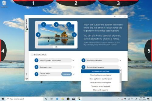 Stardock's TouchTasks brings touch actions to the edge of your PC's screen