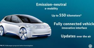 The next electric Volkswagen is on track to have a 550 km range