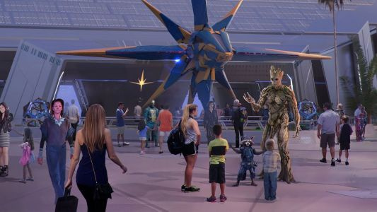 Disney Reveals First Look and New Details For Their GUARDIANS OF THE GALAXY Roller Coaster