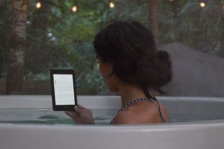 The Kindle Paperwhite is waterproof, so now you can read it in the tub