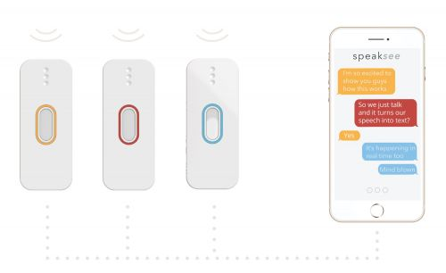 SpeakSee makes it simple for a deaf person to join a group conversation