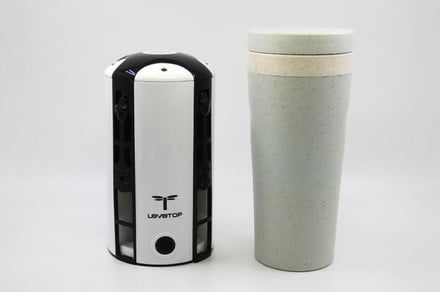 The LeveTop is a cylindrical, vertical drone that looks like a coffee mug