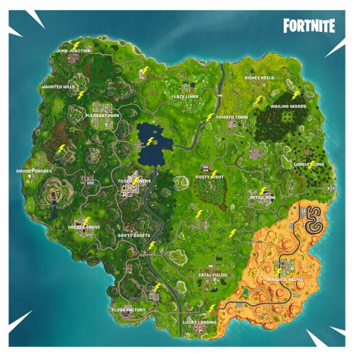 Fortnite Lightning Bolt Locations: Where To Search Floating Lightning Bolts