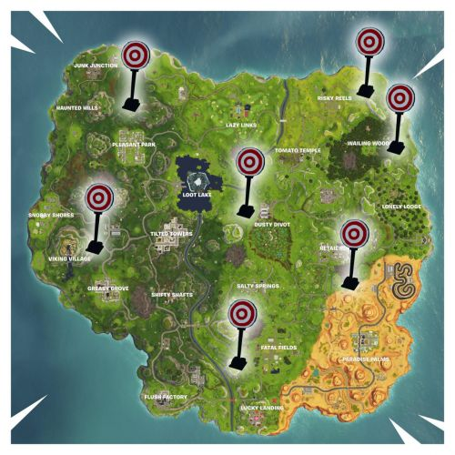Fortnite: Where Are The Shooting Galleries Locations? How To Get A Score Of 3 Or More