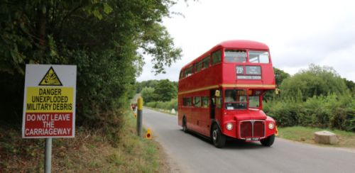 Routemaster buses to drive through a military firing range