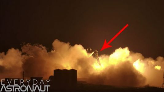 Watch: SpaceX's Starhopper Prototype Goes Up in Flames During Static-Fire Test