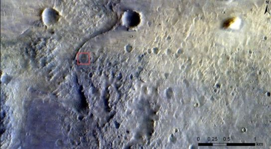 Mars Orbiter Spots New Perseverance Lander on Surface